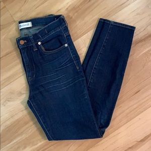 Size 27 Madewell high riser skinny skinny jeans